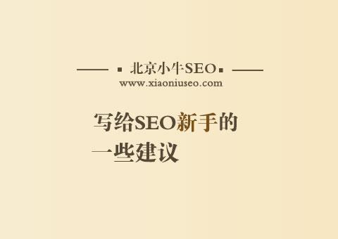 写给seo新手的一些建议